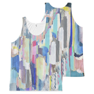 Colourful brushstrokes All-Over print tank top