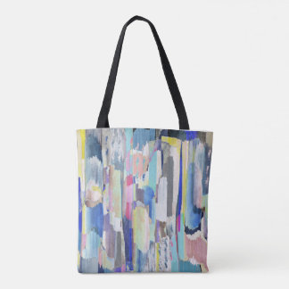Colourful brushstrokes tote bag