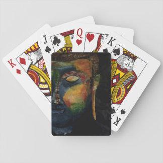 Colourful Budha abstract painting card