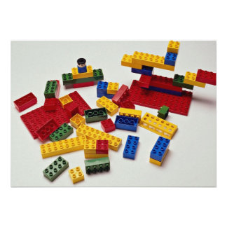 Colourful building blocks for kids invites