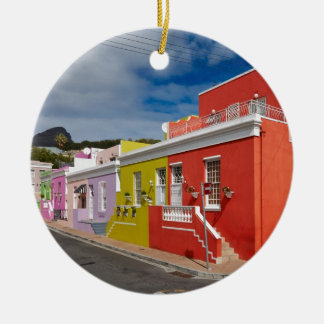Colourful Buildings in Bo-Kaap, Cape Town Christmas Ornament