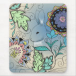 Colourful Bunny Mouse Pad (vertical)
