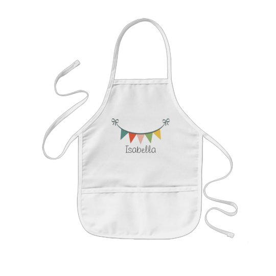 Colourful Bunting Banner Customised Aprons