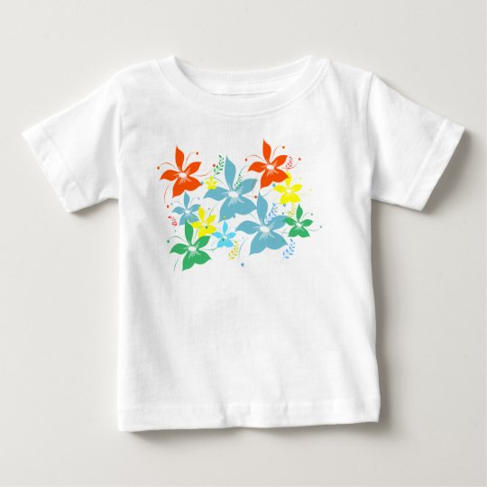 Colourful but simple flower pattern baby T-Shirt