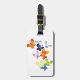 Colourful ButterFlies Luggage Tag