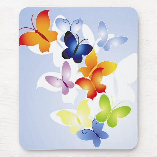 Colourful Butterflies Mouse Mat