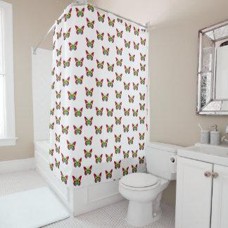 Colourful butterflies shower curtain