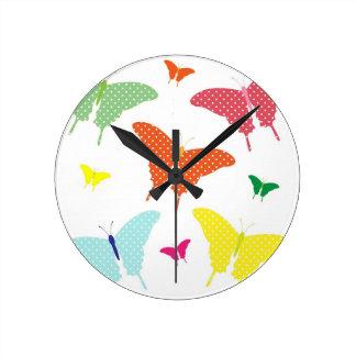 Colourful Butterflies Wall Clock