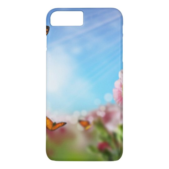 Colourful Butterfllies On Flowers iPhone 7 Plus Case