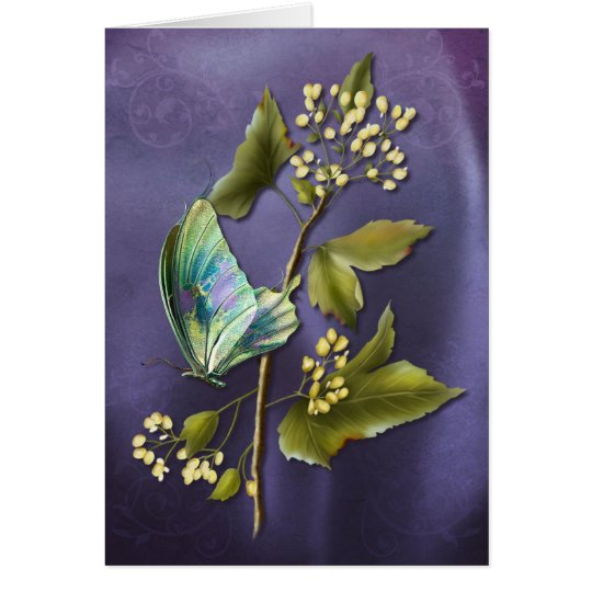Colourful Butterfly Card
