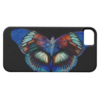 Colourful Butterfly design against black backdrop  iPhone 5 Cases