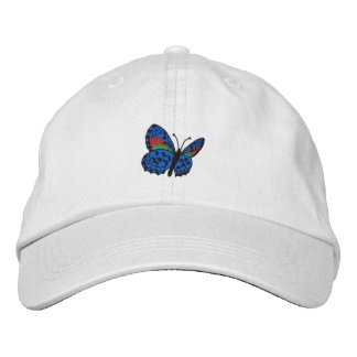 Colourful Butterfly Embroidered Cap