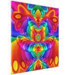 Colourful Butterfly Fractal Art Wrapped Canvas