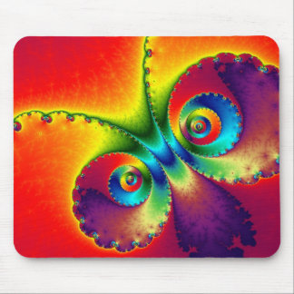 Colourful Butterfly Fractal Mouse Pad