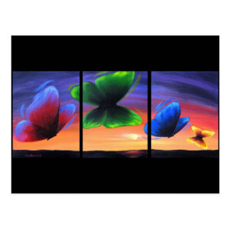 Colourful Butterfly Insects Painting - Multi Post Card