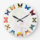 Colourful Butterfly Kids Room Wall Clock