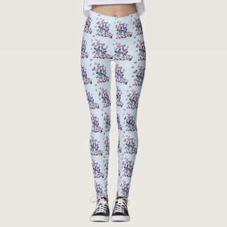 colourful butterfly leggings