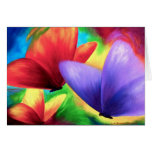 Colourful Butterfly Painting - Multi Greeting Card