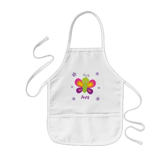 Colourful Butterfly Personalised Kids Apron