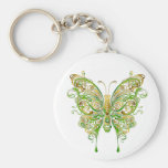 Colourful Butterfly Tattoo Style Keychains