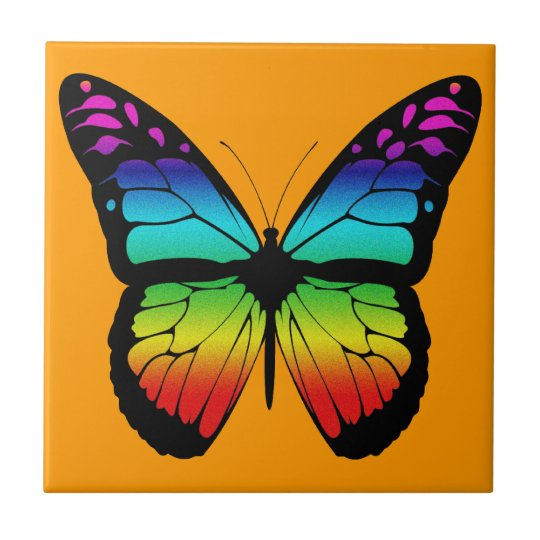 Colourful Butterfly Tile