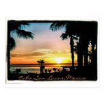 colourful cabo sunset postcard with text