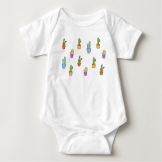 Colourful Cacti Baby Romper Baby Bodysuit