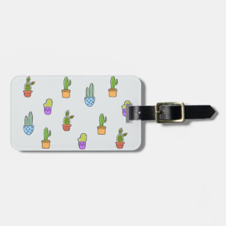Colourful Cacti Luggage Tag
