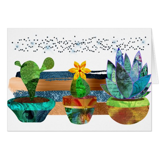 Colourful Cactus and Succulents Card
