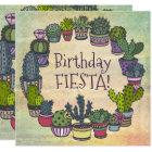 Colourful Cactus Birthday Fiesta Card