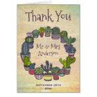 Colourful Cactus Weddomg Thank You Card