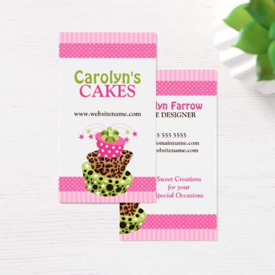 Colourful Cake Bakery Business Card