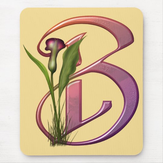 Colourful Calla Initial B Mouse Mat