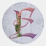 Colourful Calla Initial E Sticker