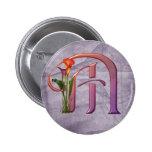 Colourful Calla Initial M 6 Cm Round Badge