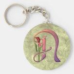 Colourful Calla Initial N Key Chains