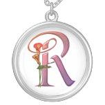 Colourful Calla Initial R Jewelry