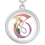 Colourful Calla Initial T Personalized Necklace