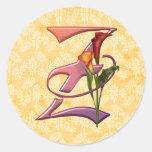 Colourful Calla Initial Z Stickers