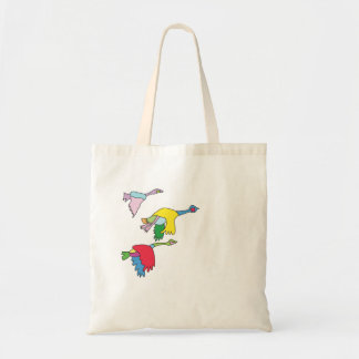 Colourful Canada Geese Tote