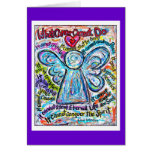 Colourful Cancer Angel Card