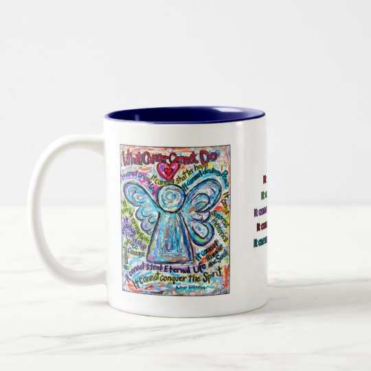 Colourful Cancer Angel Mug