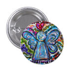 Colourful Cancer Angel Painting Art Button or Pin