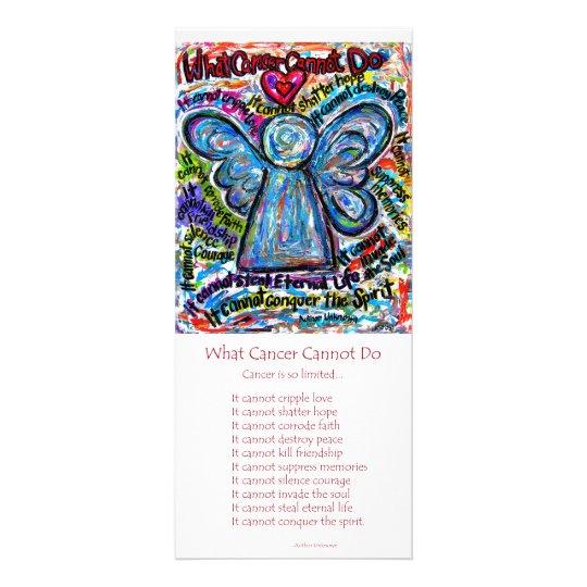 Colourful Cancer Angel Rack Card