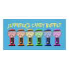 Colourful Candy Buffet Sign