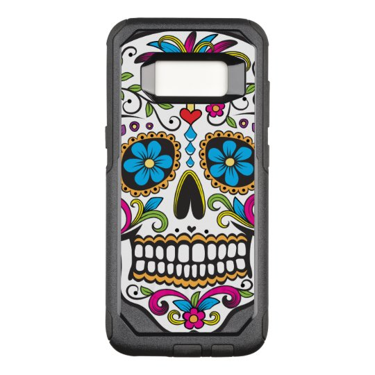 Colourful Candy Skull OtterBox Commuter Samsung Galaxy S8