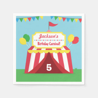 Colourful Carnival Kids Birthday Party Supplies Disposable Napkin