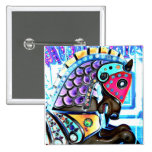 Colourful Carousel Horse 1 Pin