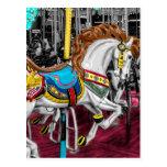 Colourful Carousel Horse at Carnival Postcard