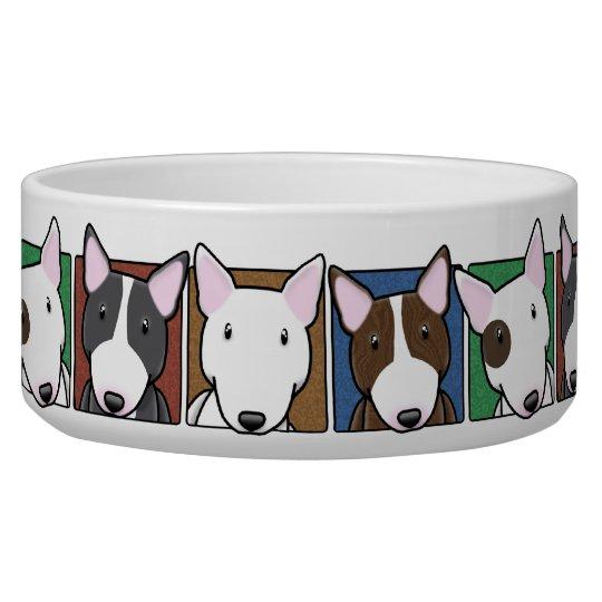 Colourful Cartoon Bull Terriers